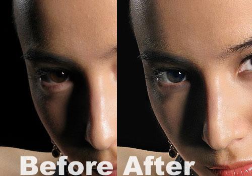 Complete portrait retouching