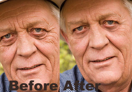 Reducing Wrinkles With The Healing Brush In Photoshop